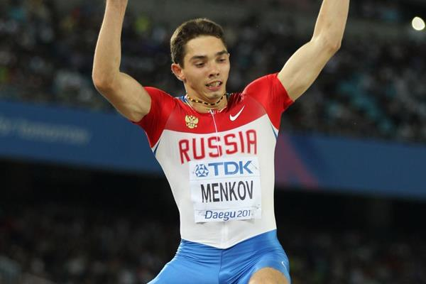 Russian long jumper Aleksandr Menkov in action at the 2011 World Championships in Daegu (Getty Images)