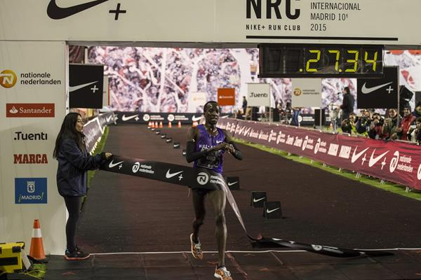 Mike Kigen wins at the 2015 San Silvestre Vallecana (Organisers)
