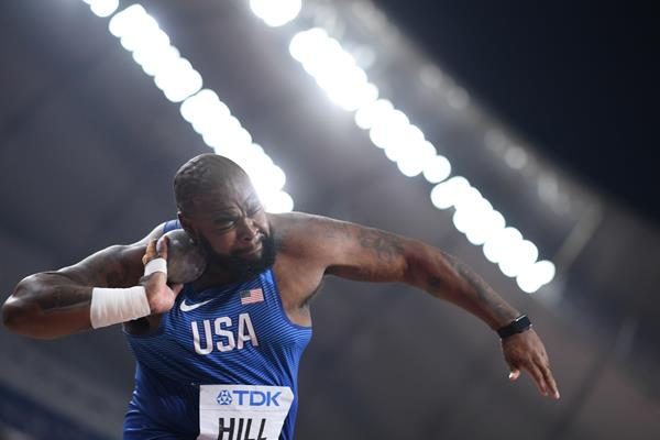 Darrell Hill at the IAAF World Athletics Championships Doha 2019 (AFP / Getty Images)