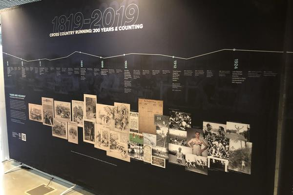 TIMELINE pre-WXC Champs era - IAAF Heritage Cross Country Display - 1819 to 2019 - Aarhus, Denmark (IAAF)