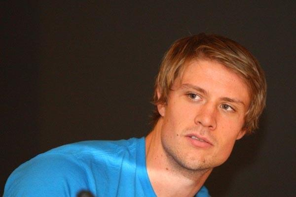 Andreas Thorkildsen at the press conference ahead of the IAAF / VTB Bank World Athletics Final (Getty Images)