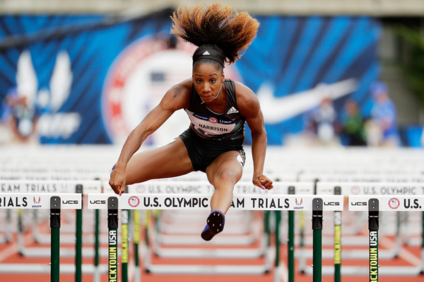 Kendra Harrison in action in the 100m hurdles at the US Olympic Trials (Getty Images)