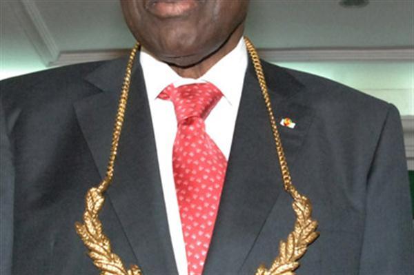 President Lamine Diack after receiving ANOCA Golden Order of Merit  (IAAF)