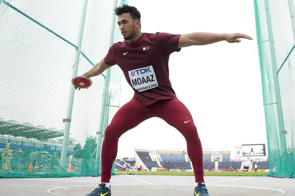 Mohamed Ibrahim Moaaz in the discus at the IAAF World U20 Championships Bydgoszcz 2016 (Getty Images)