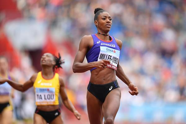Shaunae Miller-Uibo takes the Continental Cup 200m title in Ostrava (Getty Images)