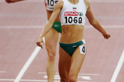 Vanya Stambolova winning 400m gold in Gothenburg (Getty Images)
