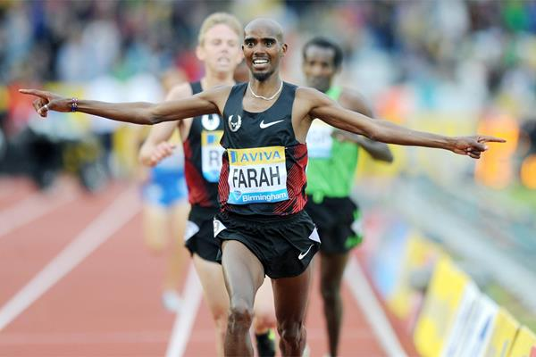 Mo Farah brings home 5000m win at the Birmingham Diamond League  (Mark Shearman)