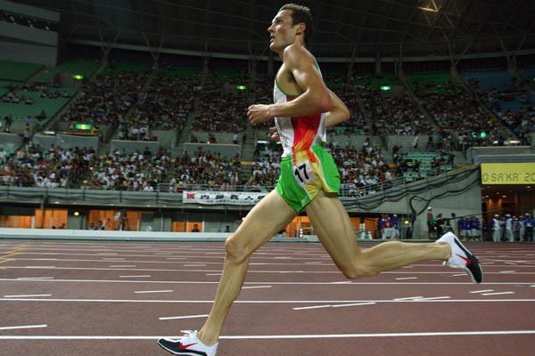 Craig Mottram of Australia in the 5000m heats (Getty Images)