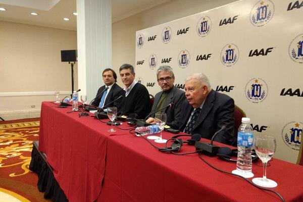 From right: Roberto Gesta de Melo, President CONSUDATLE; Diego Zarba, Patagonia Eventos; Fernando Sotto, President CADA; Pablo Bruni, Secretary of Tourism Villa la Angostura (IAAF)