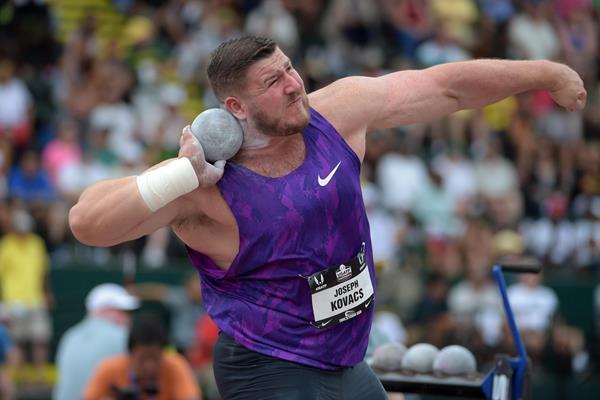 Joe Kovacs at the 2015 US Championships (Kirby Lee)