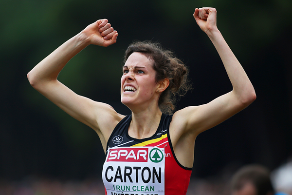 Louise Carton wins the under-23 women's race at the 2015 European Cross Country Championships in Hyeres (Getty Images)