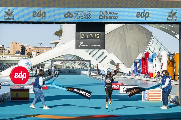 Peres Jepchirchir victorious at the Valencia Marathon (Organisers)