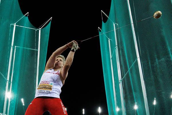 Poland's Anita Wlodarczyk wins the European hammer title in Zurich (Getty Images)
