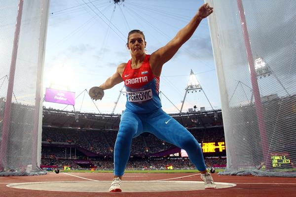 Sandra Perkovic in the discus at the London 2012 Olympic Games (Getty Images)