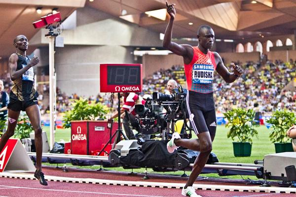 David Rudisha wins the 800m at the Diamond League meeting in Monaco (Philippe Fitte)