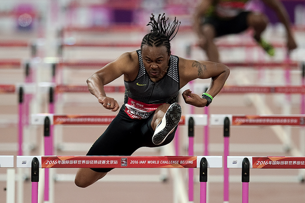 Aries Merritt in the 110m hurdles at the IAAF World Challenge meeting in Beijing (AFP / Getty Images)