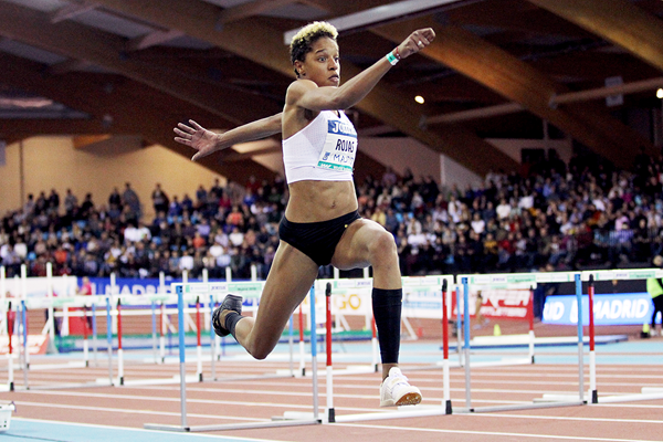 Yulimar Rojas in the triple jump at the IAAF World Indoor Tour meeting in Madrid (Jean-Pierre Durand)