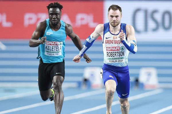 Dorian Keletela in action at the European Indoor Championships (Getty Images)