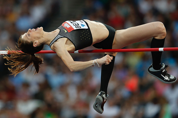 Ruth Beitia in the high jump at the IAAF Diamond League meeting in London (AFP / Getty Images)
