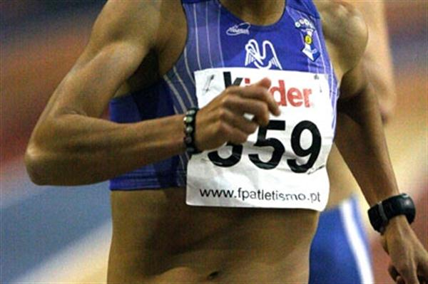 Vera Santos of Portugal at the national indoor club championships (Marcelino Almeida)