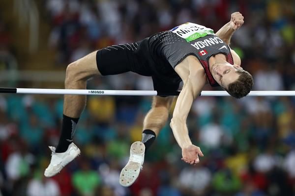 Derek Drouin in the high jump at the Rio 2016 Olympic Games (Getty Images)