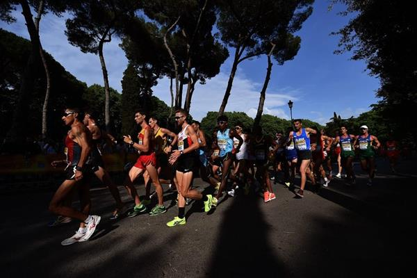 The men's 20km at the IAAF World Race Walking Team Championships Rome 2016 (Getty Images)