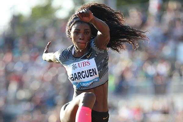 Another triple jump victory for Caterine Ibarguen at the IAAF Diamond League meeting in Lausanne (Giancarlo Colombo)