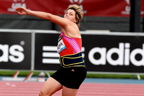 Sunette Viljoen - 69.35m African record in New York (Victah Sailer)