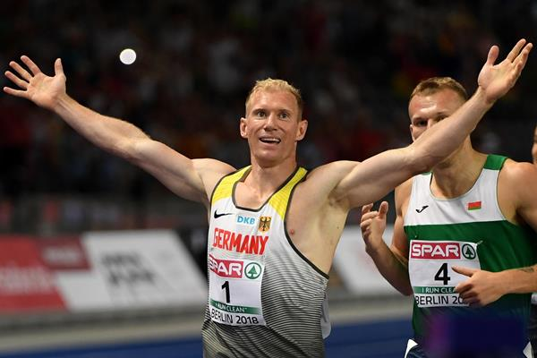 Arthur Abele wins the decathlon at the European Championships in Berlin (Getty Images)