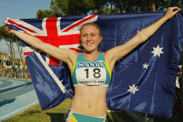 Australia's Sally McLellan after taking 100m bronze at the 2004 IAAF World Junior Championships (Getty Images)
