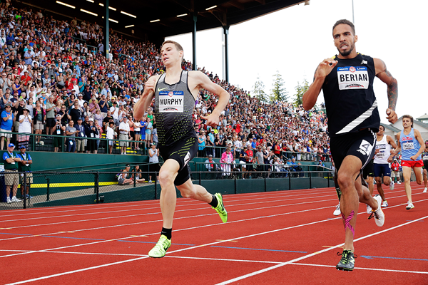 Clayton Murphy wins the 800m at the US Olympic Trials (Getty Images)