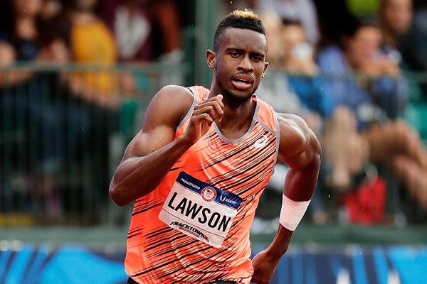Jarrion Lawson in action at the US Olympic Trials (Getty Images)