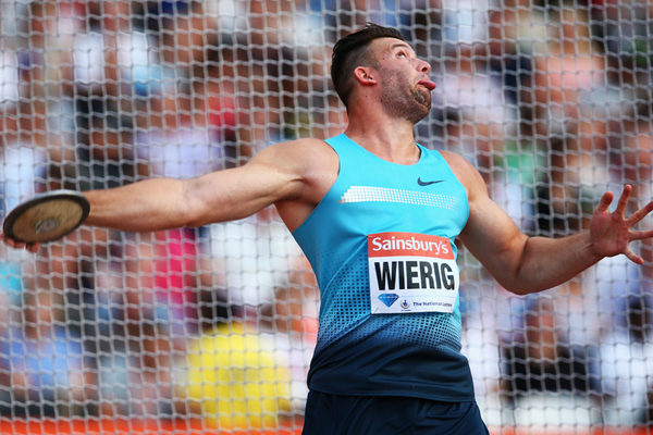 Martin Wierig of Germany in the discus (Getty Images)