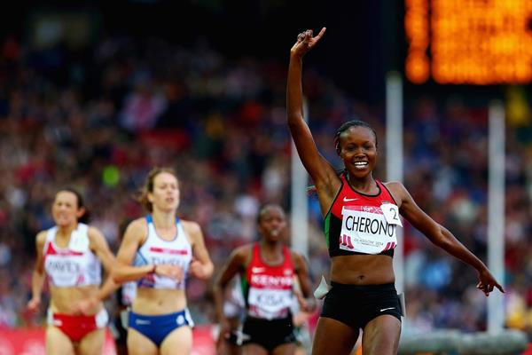 Mercy Cherono winning the 5000m at the 2014 Commonwealth Games (Getty Images)