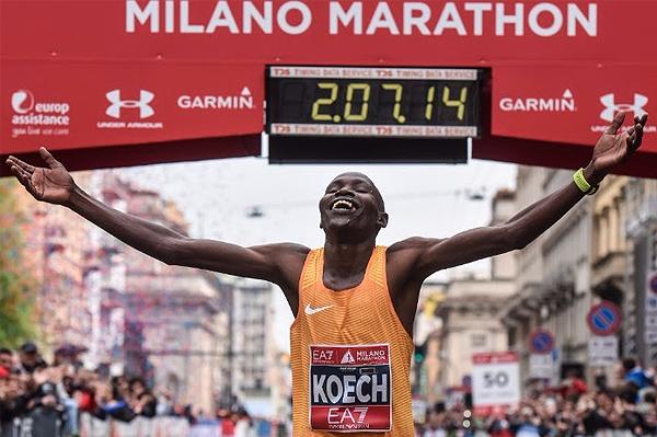 Edwin Kipngetich Koech wins the Milan Marathon (Organisers)