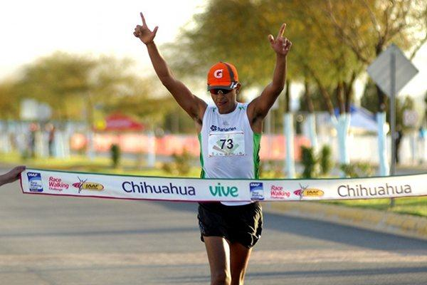 Eder Sánchez defends his title in the Chihuahua 20Km (Chihuahua organisers)