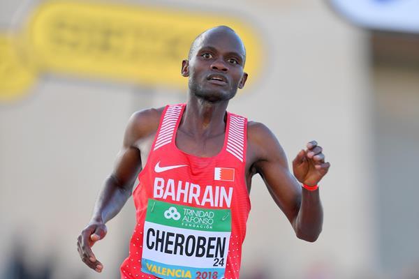 Abraham Cheroben, Valencia silver medallist (Jiro Mochizuki)