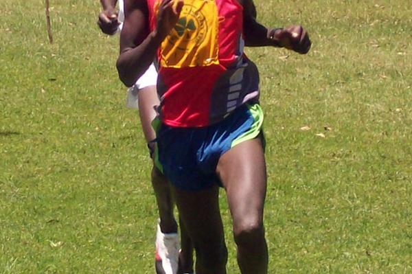 Peter Kosgei on his way to winning the men's 12km race at the 2009 North Rift Valley Provincial championships in Nandi. (Joseph Ngure)