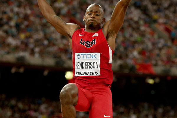 Jeff Henderson in the long jump at the IAAF World Championships Beijing 2015 (Getty Images)
