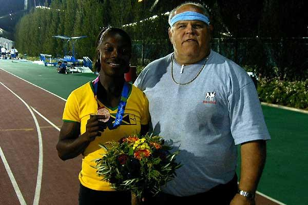 Veronica Campbell with Andy Miller in Athens (c)