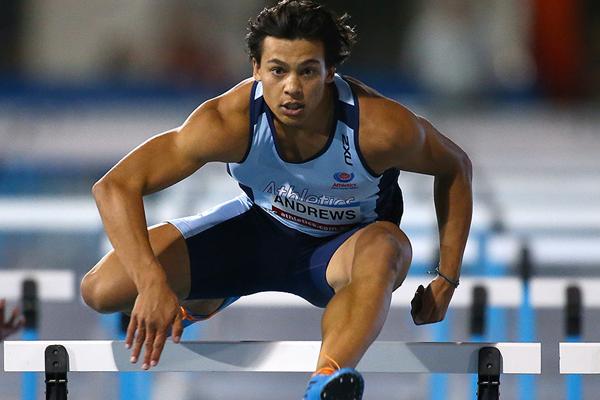 Australian sprint hurdler Nicolas Andrews (Getty Images)