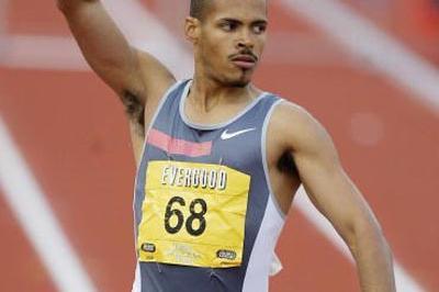 Felix Sanchez (DOM) wins the 400m Hurdles at the Bergen Bislett Games (Getty Images)