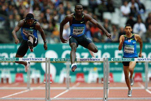 Kerron Clement takes his second Golden League victory of 2008 (Getty Images)