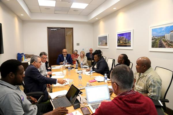 "IAAF President Sebastian Coe meeting with NACAC member federations in San Juan. ""It is heartening and humbling to see what has been accomplished by communities, their governments and by collaboration of neighbouring countries and islands."" (Hector Martinez)"