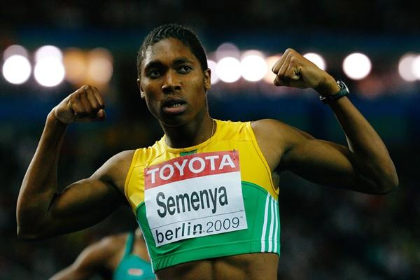 South Africa's Caster Semenya celebrates her IAAF World Championship title in the women's 800m in the Berlin Olympic Stadium (Getty Images)