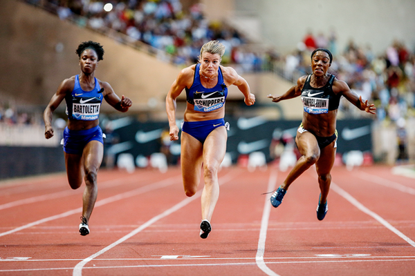 Dafne Schippers wins the 100m at the IAAF Diamond League meeting in Monaco (Philippe Fitte)