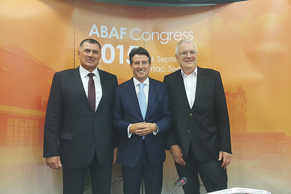 IAAF President Sebastian Coe at the ABAF Congress (IAAF)