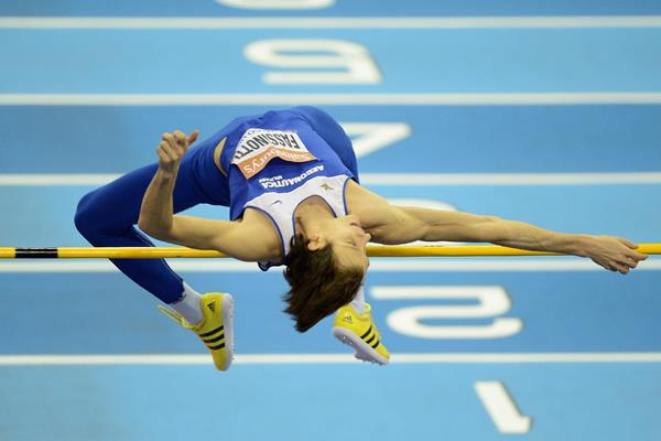 Italy's Marco Fassinotti in action in the high jump (Getty Images)
