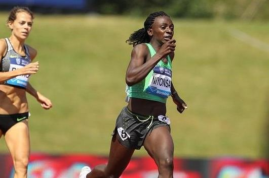 Francine Niyonsaba at the 2016 IAAF Diamond League meeting in Birmingham (Jean-Pierre Durand)