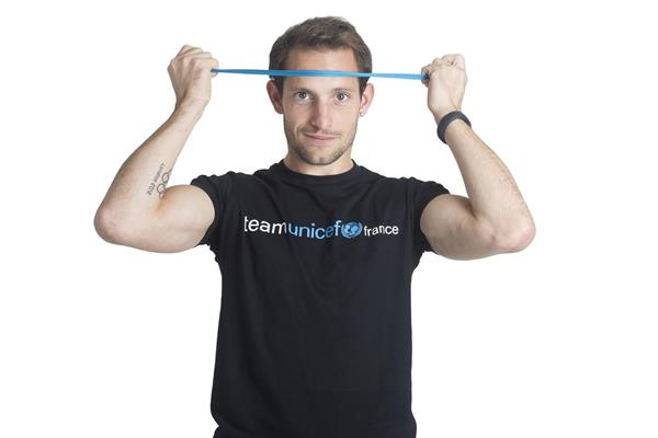 Renaud Lavillenie supporting UNICEF Heroes Day (UNICEF)